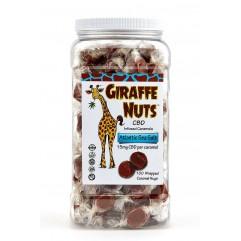 GIRAFFE NUTS 100ct CONTAINER - 3 FLAV - SEA SALT, CHOC, VANILLA