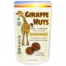 GIRAFFE NUTS CBD + CAFFEINE  ATLANTIC SEA SALT 10 Pieces
