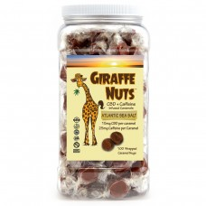 GIRAFFE NUTS CBD + CAFFEINE  ATLANTIC SEA SALT 100 Pieces - 1500mg