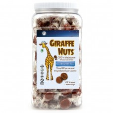 GIRAFFE NUTS CBD + MELATONIN  ATLANTIC SEA SALT - 100 Pieces - 1500mg