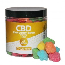 GOLDLINE SOUR BEARS 25MG/EA - 1750MG