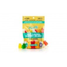 SUNSET CBD INFUSED SUGAR-FREE GUMMY BEAR PACK 300MG, 15CT